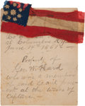 Military & Patriotic:Civil War, Bible Flag Made From a Confederate Flag Captured at Columbus, Kentucky, June 14, 1861 by the 8th Illinois Volunteer Infantry....