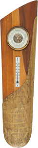 Military & Patriotic:WWI, WWI German Propeller Tip Thermometer and Barometer....
