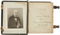 Military & Patriotic:Civil War, [Repatriated South American Colony Confederate Family] Pair of Southern Family Carte de Visite Albums.... (Total: 2 Items)