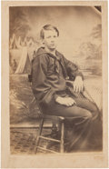 Photography:CDVs, Exceptionally nice Carte de Visite Portrait of a very Young Federal Enlisted Sailor....