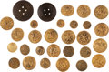 Militaria:Uniforms, Buttons: Group of Twenty-Nine United States Navy Buttons,... (Total: 29 )