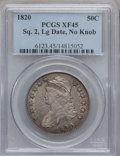 Bust Half Dollars: , 1820 50C Square Base No Knob 2, Large Date XF45 PCGS. PCGSPopulation (18/62). NGC Census: (0/0). ...