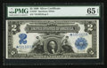 Large Size:Silver Certificates, Fr. 258* $2 1899 Silver Certificate PMG Gem Uncirculated 65 EPQ.....