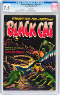Golden Age (1938-1955):Horror, Black Cat Mystery #47 (Harvey, 1953) CGC VF- 7.5 White pages....