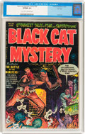Golden Age (1938-1955):Horror, Black Cat Mystery #36 File Copy (Harvey, 1952) CGC VF/NM 9.0 Lighttan to off-white pages....