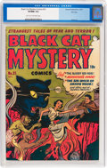 Golden Age (1938-1955):Horror, Black Cat Mystery #31 File Copy (Harvey, 1951) CGC VF/NM 9.0 Lighttan to off-white pages....