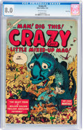 Golden Age (1938-1955):Humor, Crazy #2 River City pedigree (Atlas, 1954) CGC VF 8.0 Off-white pages....