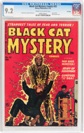 Golden Age (1938-1955):Horror, Black Cat Mystery #33 File Copy (Harvey, 1952) CGC NM- 9.2 Cream tooff-white pages....