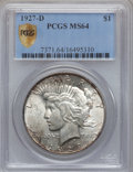 Peace Dollars, 1927-D $1 MS64 PCGS Secure....