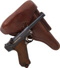 Handguns:Semiautomatic Pistol, German Erfurt Model P08 1916 Luger Semi-Automatic Pistol withHolster....