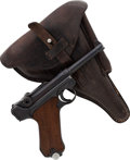 Handguns:Semiautomatic Pistol, German Mauser Banner Luger Semi-Automatic Pistol with MatchingMagazines and Holster....