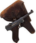 Handguns:Semiautomatic Pistol, Unit Marked German Erfurt Model P08 1913 Luger Semi-Automatic Pistol with Holster. ...