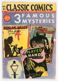 Golden Age (1938-1955):Classics Illustrated, Classic Comics #21 (1A) 3 Famous Mysteries - Original Edition(Gilberton, 1944) Condition: GD/VG....