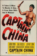"Movie Posters:Adventure, Captain China (Paramount, 1950). One Sheet (27"" X 41"") & LobbyCard Set of 8 (11"" X 14""). Adventure.. ... (Total: 9 Item)"