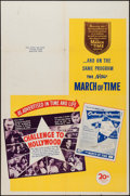 "Movie Posters:Documentary, The March of Time (20th Century Fox, 1945). One Sheet (27"" X 41"") Volume 12 No. 5 -- ""Challenge to Hollywood."" Documentary...."