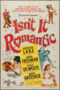"Isn't It Romantic (Paramount, 1948). One Sheet (27"" X 41""). Comedy"