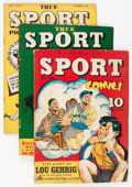 Golden Age (1938-1955):Non-Fiction, True Sport Picture Stories Plus Group (Street & Smith,1940s).... (Total: 5 Comic Books)