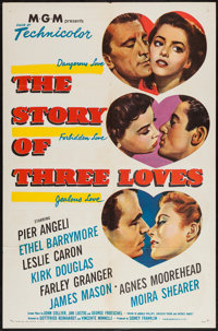 "The Story of Three Loves (MGM, 1953). One Sheet (27"" X 41"") & Lobby Card Set of 8 (11"" X 14""). R..."