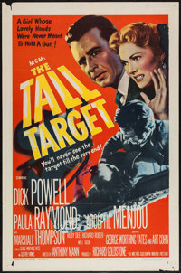"The Tall Target (MGM, 1951). One Sheet (27"" X 41"") & Title Lobby Card (11"" X 14""). Thriller..."