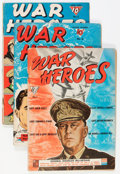 Golden Age (1938-1955):War, War Heroes #1-8 and 10 Group (Dell, 1942-44) Condition: AverageGD/VG.... (Total: 9 Comic Books)