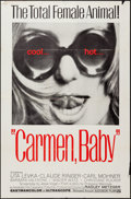 "Movie Posters:Sexploitation, Carmen, Baby (Audubon, 1967). One Sheet (27"" X 41"").Sexploitation.. ..."
