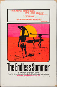 "The Endless Summer (Cinema 5, 1966). One Sheet (27"" X 41"") Day-Glo Silk-Screen Style. Sports"