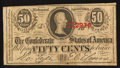 Confederate Notes:1863 Issues, T63 50 Cents 1863 PF-1 Cr. 486.. ...