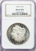 Morgan Dollars, 1883-O $1 MS65 Deep Mirror Prooflike NGC....