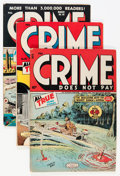 Golden Age (1938-1955):Crime, Crime Does Not Pay Group (Lev Gleason, 1946-49) Condition: Average FN+.... (Total: 9 Comic Books)