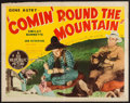 "Movie Posters:Western, Comin' Round the Mountain (Republic, R-1940s). Half Sheet (22"" X 28"") Style A & Lobby Cards (2) (11"" X 14""). Western.. ... (Total: 3 Items)"