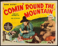 "Comin' Round the Mountain (Republic, R-1940s). Half Sheet (22"" X 28"") Style A & Lobby Cards (2) (11&qu..."