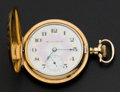 Timepieces:Pocket (post 1900), Hampden Fancy Dial Hunter Case Pocket Watch. ...