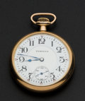 Timepieces:Pocket (post 1900), Hampden 17 Jewel Railway Open Face Pocket Watch. ...