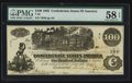 Confederate Notes:1862 Issues, T39 $100 1862 PF-9 Cr. 291.. ...