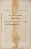 Books:Americana & American History, [Slavery] [Dred Scott Case]. Supreme Court of the United States.No. 7 December Term, 1856. Dred Scott, (A Colored Man) ...