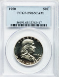 Proof Franklin Half Dollars, 1950 50C PR65 Cameo PCGS....