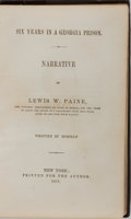 Books:Americana & American History, [Slavery] Lewis W. Paine. Six Years in a Georgia Prison.Printed for the author, 1851. Publisher's original embo...