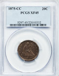 Twenty Cent Pieces, 1875-CC 20C XF45 PCGS....