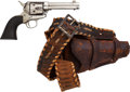 Handguns:Single Action Revolver, Colt Single Action Army Revolver Marked with Cattle Brand and Gunbelt....