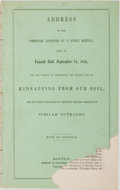 Books:Americana & American History, [Slavery] Address of the Committee Appointed by a Public MeetingHeld at Faneuil Hall, September 24, 1846 for the Purpos...