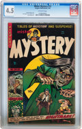 Golden Age (1938-1955):Horror, Mister Mystery #15 (Aragon, 1954) CGC VG+ 4.5 Off-white pages....