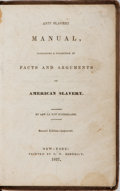 Books:Americana & American History, [Slavery] Rev. Le Roy Sunderland. Anti Slavery Manual,Containing a Collection of Facts and Arguments on AmericanSlaver...