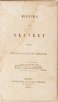 Books:Americana & American History, [Slavery] George Bourne. Picture of Slavery in the United Statesof America. Isaac Knapp, 1838. Engraved illustr...