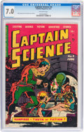 Golden Age (1938-1955):Science Fiction, Captain Science #4 (Youthful Magazines, 1951) CGC 7.0 FN/VFOff-white pages....