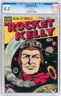 Golden Age (1938-1955):Science Fiction, Rocket Kelly #1 (Fox Features Syndicate, 1945) CGC VF+ 8.5Off-white pages....