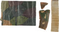Military & Patriotic:WWI, [Paul Strähle Halberstadt Collection] Large Section of WWI GermanHalberstadt CL. IV Lozenge Camouflage Fabric and Three Small...(Total: 2 Items)
