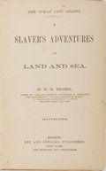 Books:Americana & American History, [Slavery] W. H. Thomes. A Slaver's Adventures on Land andSea. Lee and Shepard, 1872. First edition. Publisher'...