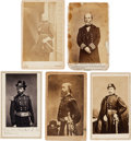 Photography:CDVs, Group of Five Civil War Cartes de Visite of Union Generals & Admirals.... (Total: 5 Items)
