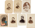 Photography:CDVs, Group of Seven Civil War Cartes de Visite of Union Generals & Personalities.... (Total: 7 Items)