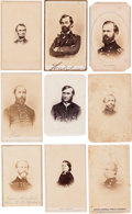 Photography:CDVs, Group of Nine Civil War Cartes de Visite of Union Generals & Personalities. ... (Total: 9 Items)